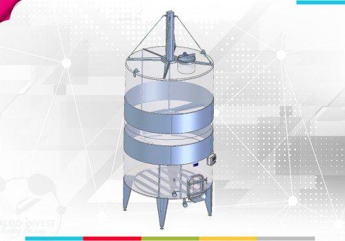 Fermentator cu cilindru pneumatic